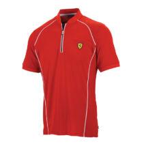 Ferrari galléros póló - Performance Zip piros