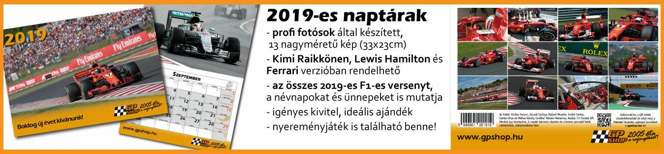 2019-es naptárak