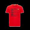 Kép 1/2 - Ferrari póló - Infographic piros