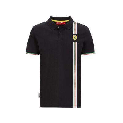 Ferrari galléros póló - Scudetto Italia fekete