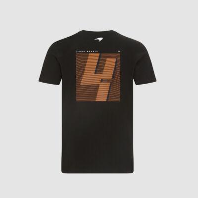 McLaren póló - No. 4 Back fekete