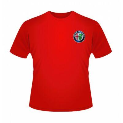 Alfa Romeo gyerek póló - Team Logo piros