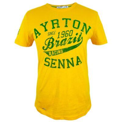 Senna póló - Senna Brazil sárga