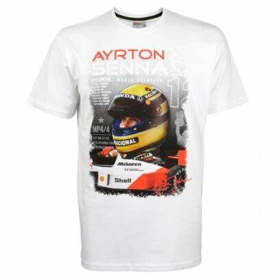 Senna póló - Wolrd Champion 1988 fehér