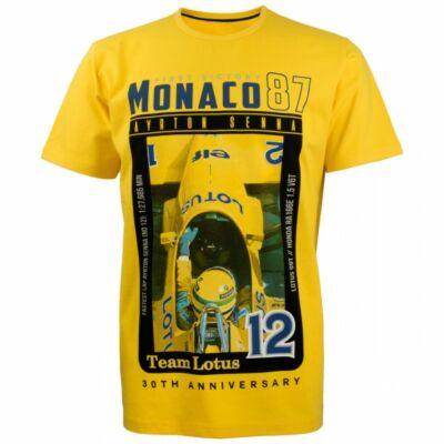 Senna póló - First Monaco Victory sárga