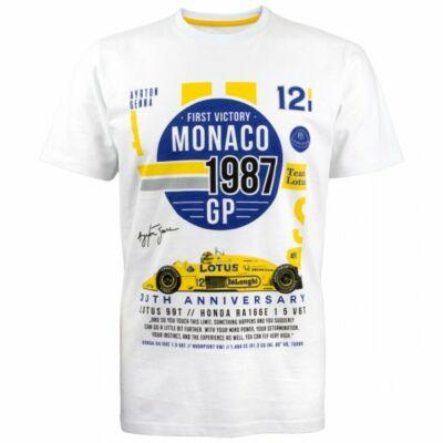 Senna póló - First Monaco Victory fehér