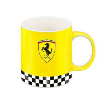 Ferrari bögre - Chequred Flag sárga