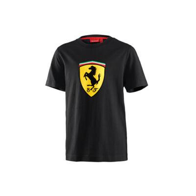 Ferrari gyerek póló - Large Scudetto, fekete