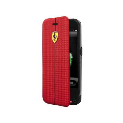 Ferrari könyv tok - Scudetto Power Case piros