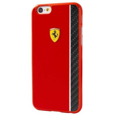 Ferrari kemény tok - Carbon Stripe piros