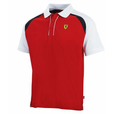 Ferrari galléros póló - Race piros