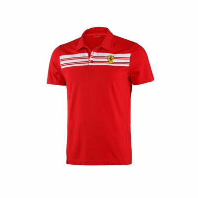 Ferrari galléros póló - Striped, piros