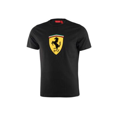 Ferrari póló - Classic Large Scudetto, fekete