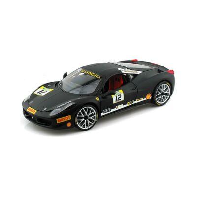 Ferrari modellautó - 458 Challange matt fekete