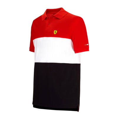 Ferrari gyerek galléros póló - Scudetto Blocked
