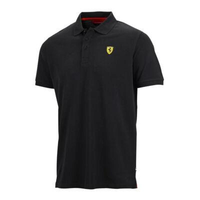 Ferrari galléros póló - Classic Scudetto fekete