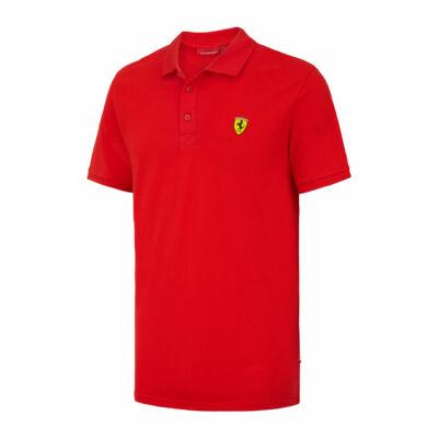 Ferrari galléros póló - Classic Scudetto piros