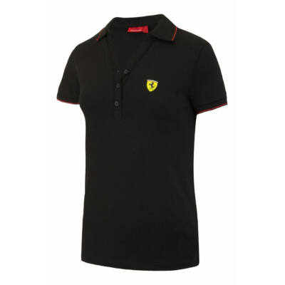 Hivatalos Ferrari rajongói termékek - Ferrari női galléros póló ... 4202c93679