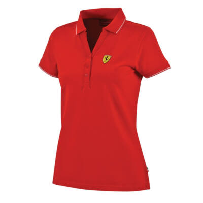 Ferrari női galléros póló - Scudetto, piros