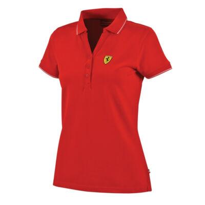 Ferrari női galléros póló - Scudetto piros