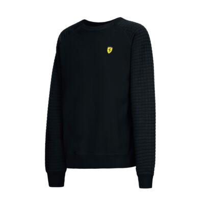 Ferrari pulóver - Scudetto Quilted Arm fekete