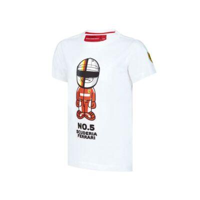 Ferrari gyerek póló - Vettel Graphic fehér