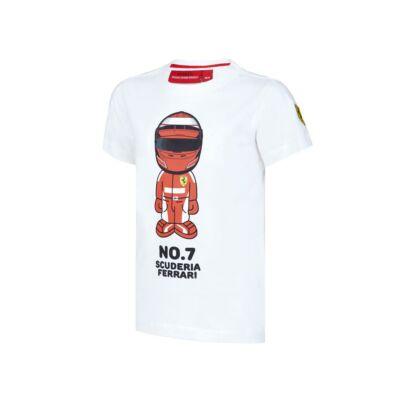 Ferrari gyerek póló - Raikkönen Graphic fehér