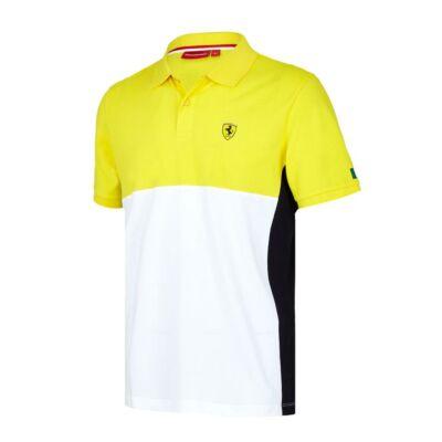 Ferrari galléros póló - Dynamic sárga