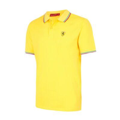 Ferrari galléros póló - Tricolore sárga
