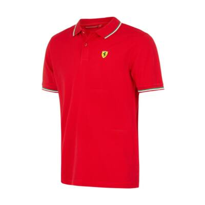 Ferrari galléros póló - Tricolore piros