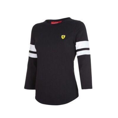 Ferrari hosszú ujjú póló - Scudetto fekete