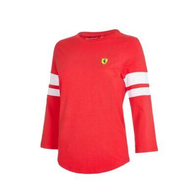Ferrari hosszú ujjú póló - Scudetto piros