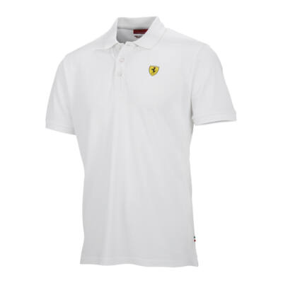 Ferrari galléros póló - Classic Scudetto fehér