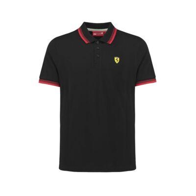 Ferrari galléros póló - SF Collar fekete