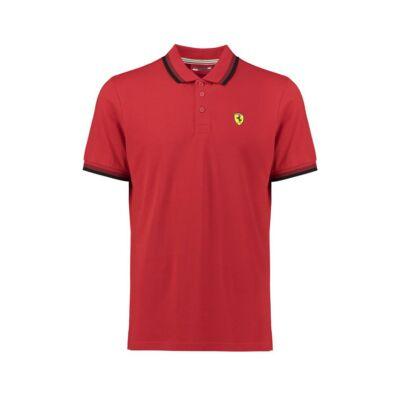 Ferrari galléros póló - SF Collar piros