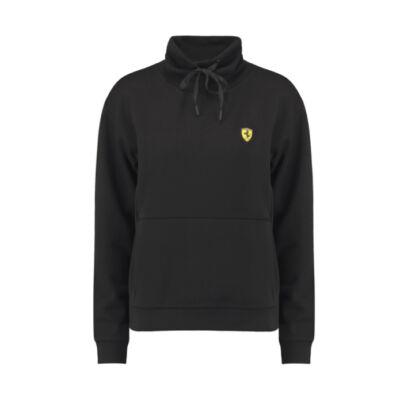 Ferrari női pulóver Scudetto Funnel Neck fekete