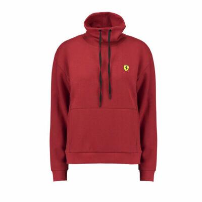 Ferrari női pulóver Scudetto Funnel Neck piros