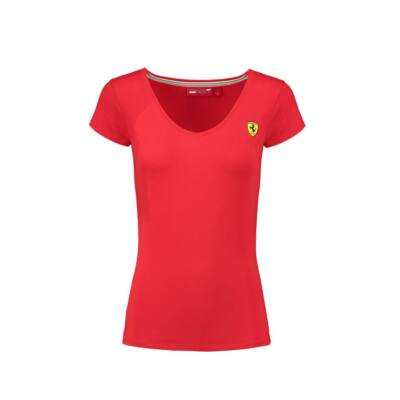 Ferrari top - Scudetto V Neck, piros