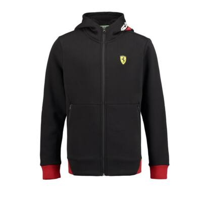 Ferrari pulóver - Scudetto Zip Through fekete