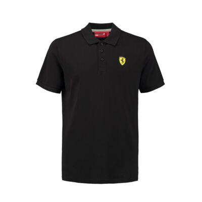 Ferrari gyerek galléros póló - Scudetto fekete