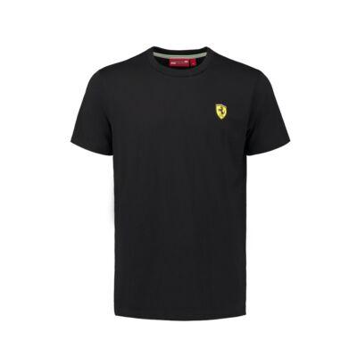 Ferrari póló - Classic Small Scudetto fekete