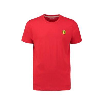 Ferrari póló - Classic Small Scudetto piros