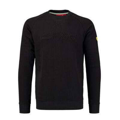 Ferrari pulóver  - SF Embossed fekete