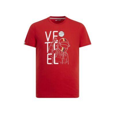 Ferrari póló - Vettel Graphic