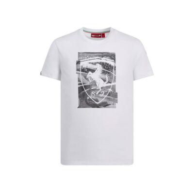 Ferrari póló - Large Scudetto Collage fehér