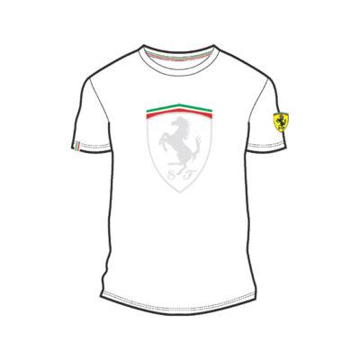 Ferrari póló - Large Scudetto Graphic fehér