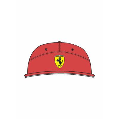 Ferrari sapka - Scudetto Flatbrim piros