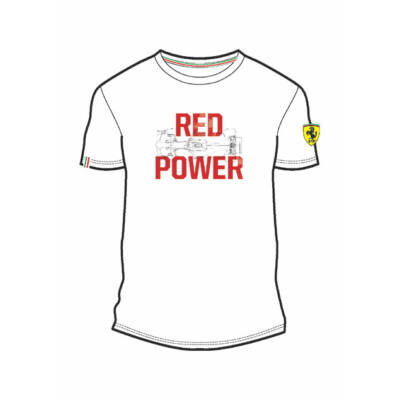 Ferrari póló - Red Power fehér