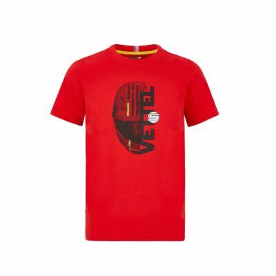 Ferrari gyerek póló - Vettel Helmet Graphic
