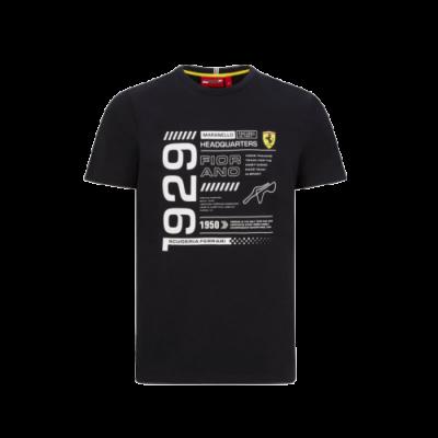 Ferrari póló - Infographic fekete